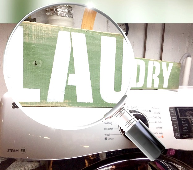 Creating a Vintage Looking Laundry Sign