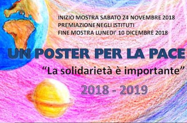 """""""Un Poster Per La Pace"""", concorso per gli alunni delle scuole medie"""
