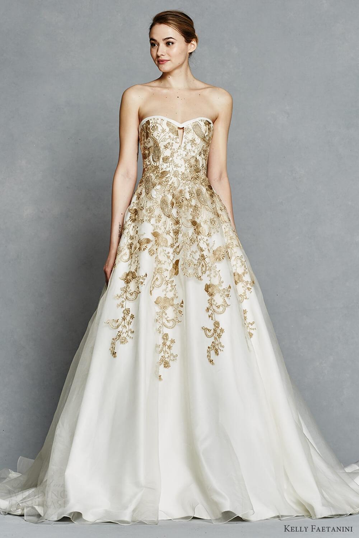 Vestidos de casamento dourados