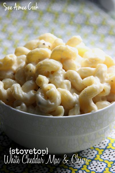 White Cheddar Macaroni And Cheese Recipe: See Aimee Cook: Creamy Stovetop White Cheddar Mac And Cheese