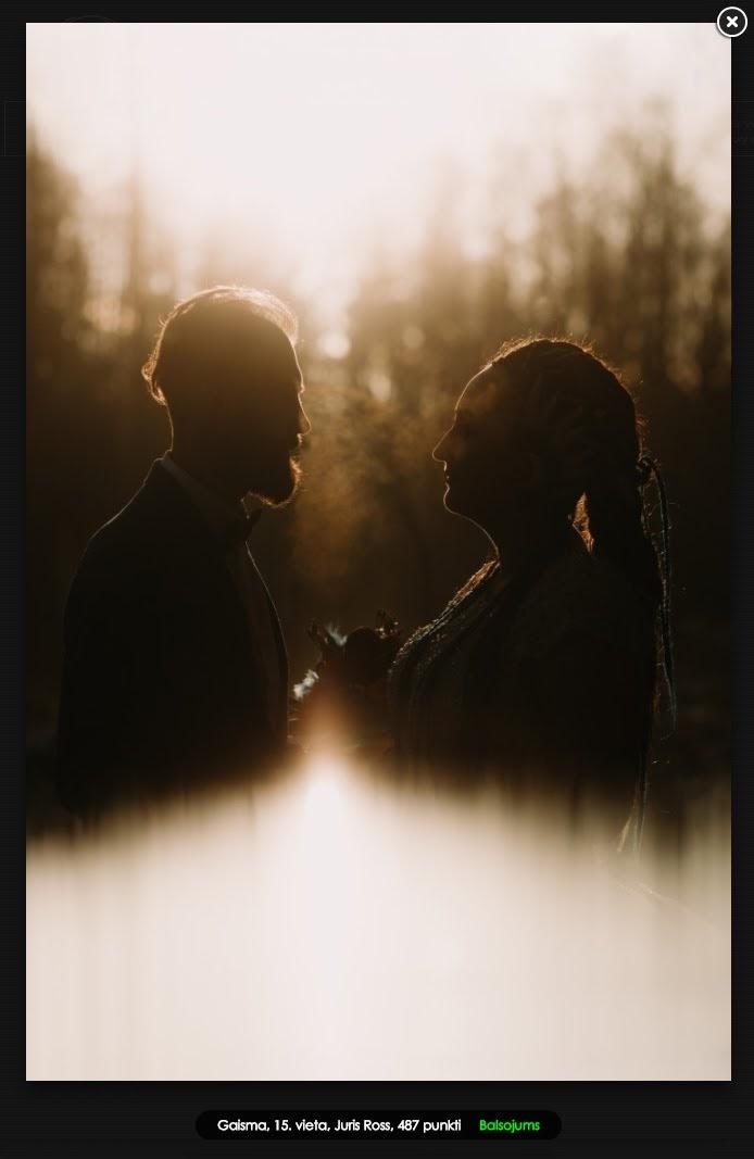 kāzu fotosesija gaismas