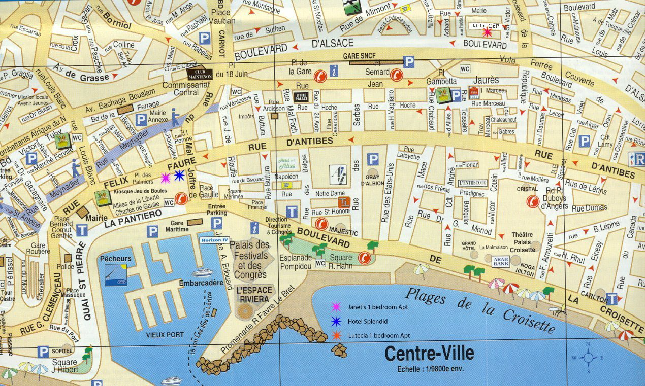 Map Of Cannes Seoul tv channel: Map of Cannes, France