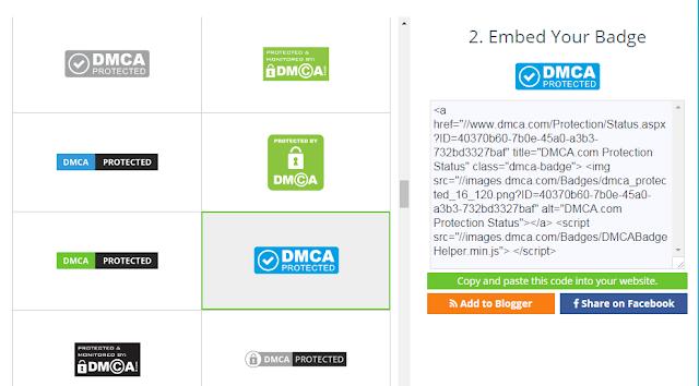 Cara Memasang Badge DMCA