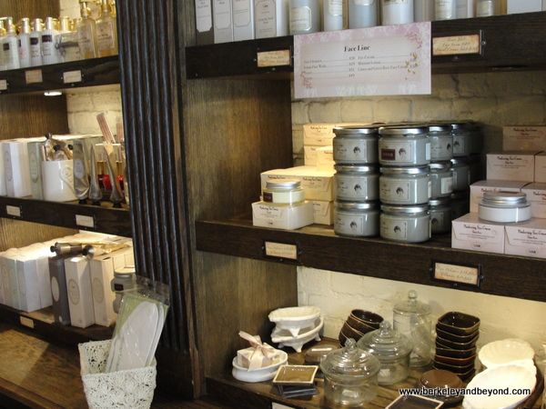 products at Sabon shop in NYC