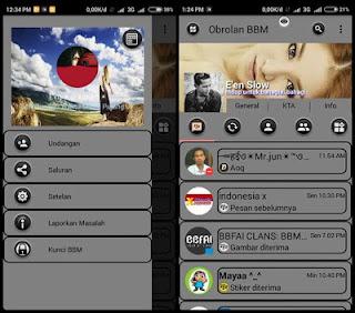 BBM Mod Grey Theme Unclone v3.0.1.25 Apk Terbaru