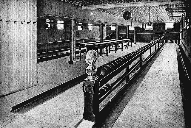 a 1904 bowling alley, large photograph