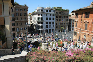 Piazza di Spagna, viewed from the Spanish Steps