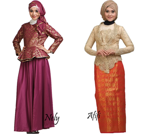 model baju songket pesta