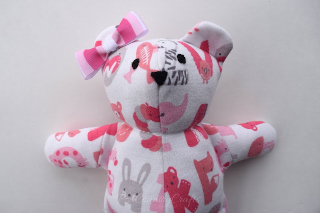 DIY memory bear with bow