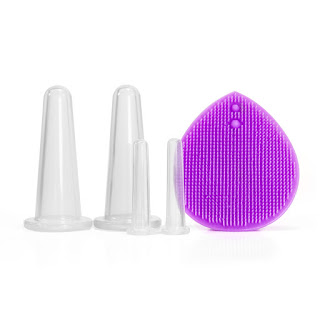 Facial Massage Silicone Cupping Set (with a brush)