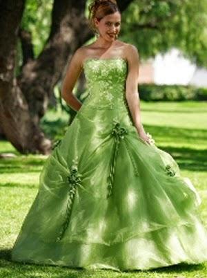 vestidos de novia verdes