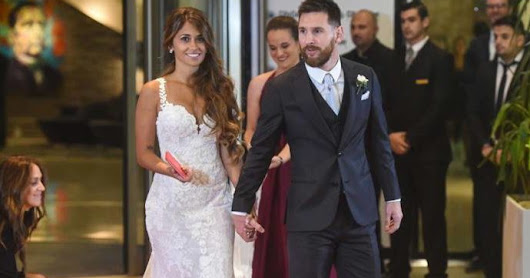 Lionel Messi weds childhood sweetheart.