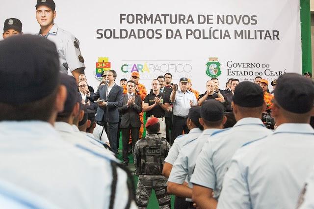 Governo do Ceará forma mais 1.305 policiais militares e amplia segurança no Estado