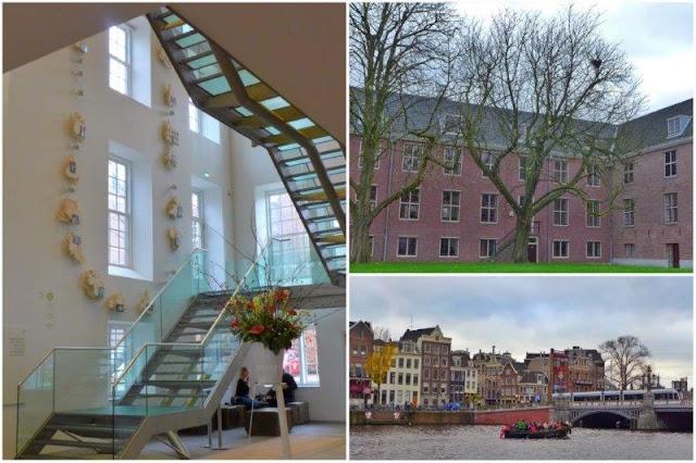 Vestibulo y patio en el Hermitage Amsterdam – Amstel Canal frente al museo