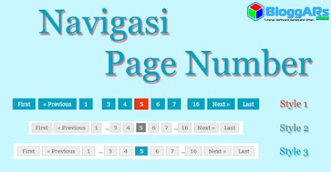 Cara Memasang Navigasi Page Numbe di Blogr
