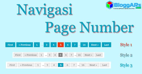 Cara Mudah Memasang Navigasi Page Number Pada Blog