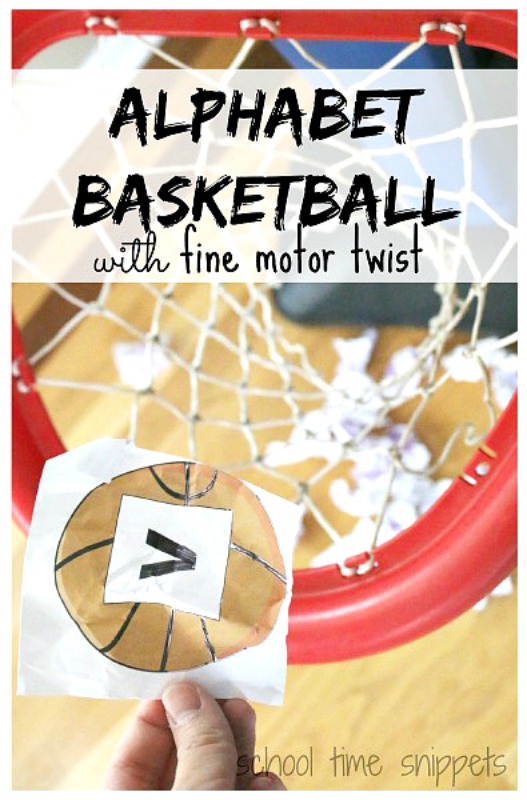Basketball Alphabet Game for Preschoolers