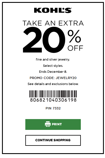 Kohls Coupon Codes This Month December 2019