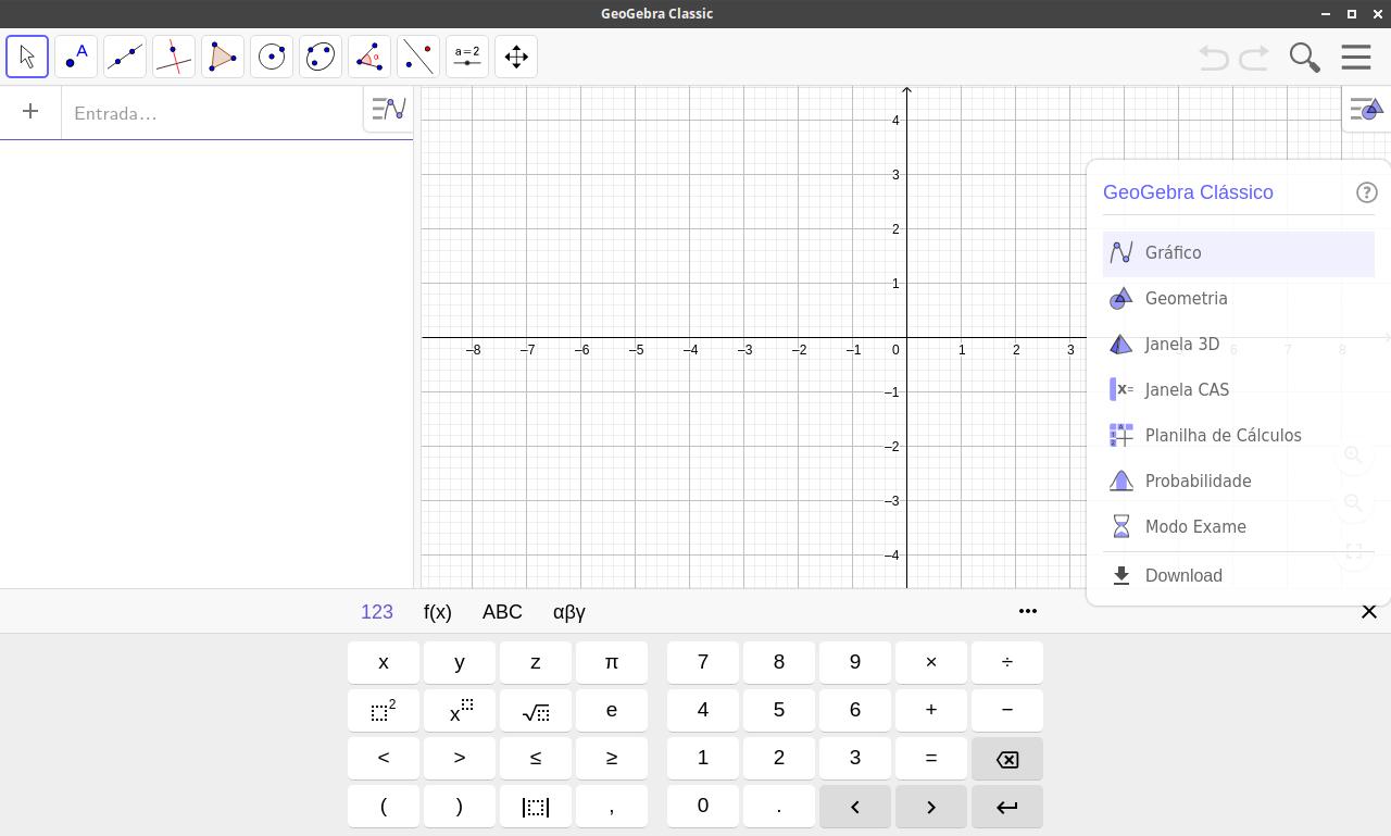 GeoGebra 6 Desktop no Xubuntu 16.04.3 LTS Xenial Xerus