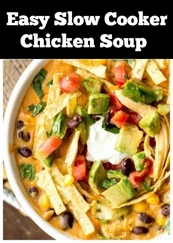 Easy Slow Cooker Chicken Soup Recipe |  Dinner Recipes Easy, Dinner Recipes For Family, Dinner Recipes Crockpot, Dinner Recipes Chicken, Dinner Recipes Slow Cooker, Crockpot Recipes Easy, Crockpot Recipes Chicken, Crockpot Recipes Soup, Crockpot Recipes Dinner #dinner #slowcooker #crockpot #easydinner #chicken #chickensoup #soup #dinnerrecipe #souprecipe