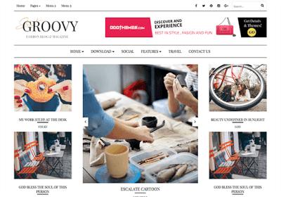 Groovy тема для blogger 2017