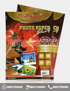 Kertas Foto Glossy Photo Paper A4 Eprint 120gsm, alat tulis sekolah, 0852-2765-5050