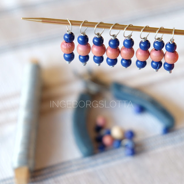 stickmarkörer - stitch markers - diy