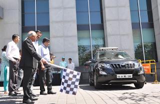 Photo Caption 1: Dr. Nandakumar Jairam, Chairman and Group MD, Columbia Asia Hospitals, flags off the road trip for Mr. Hari Prasad.