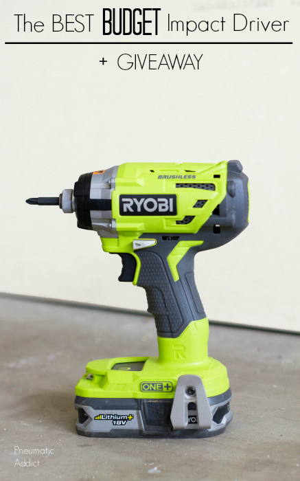 The best budget impact driver for a DIYer or power tool fan Ryobi brushless impact product review