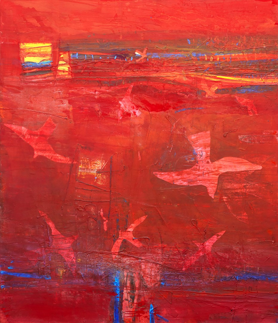 Red Sea - Barbara Rae RA, Royal Academy Summer Exhibition 2017