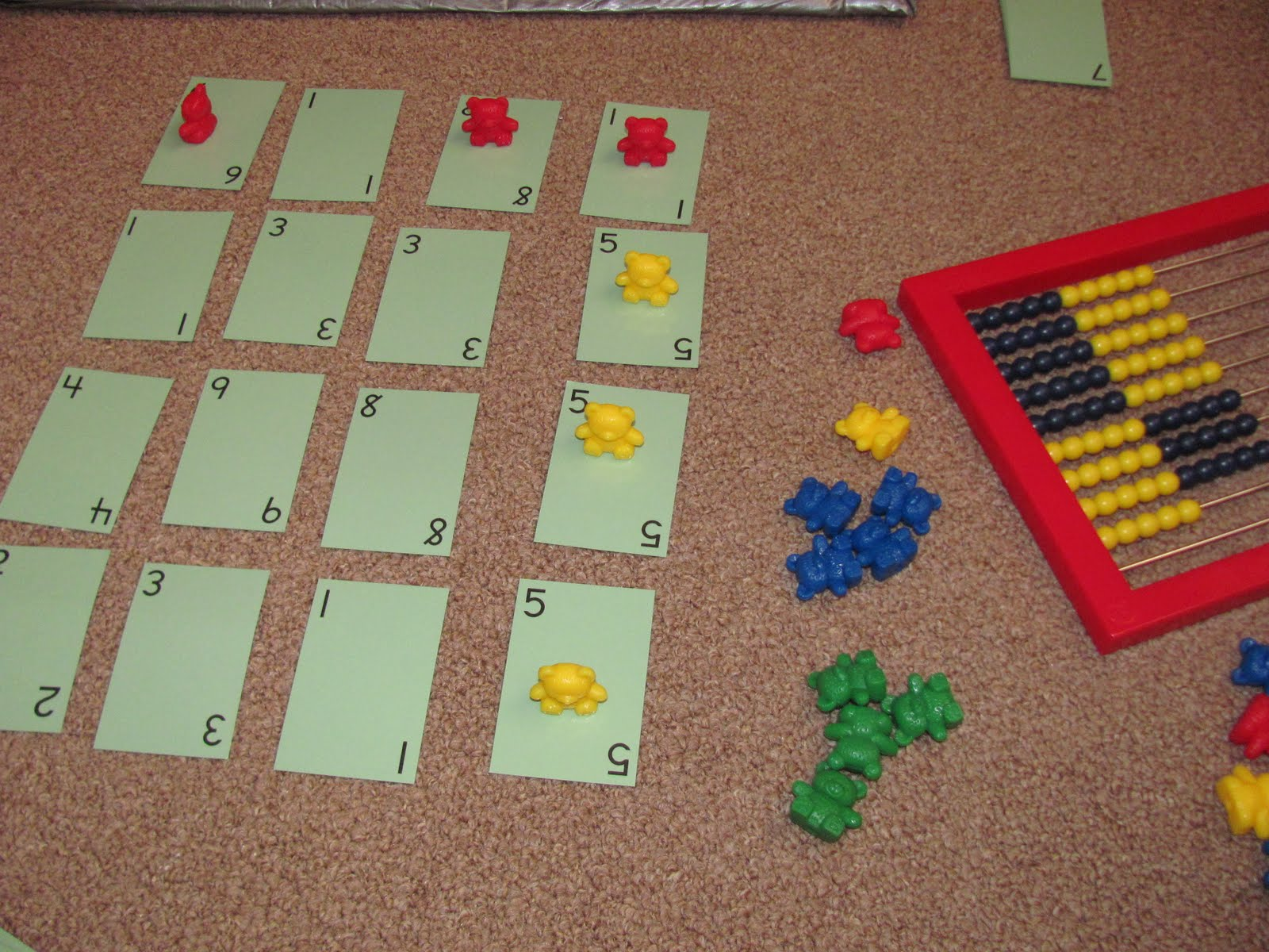 My Two Happy Homeschoolers Row And Columns Game Math