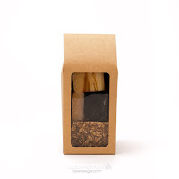 Food safe kraft box with tapered top