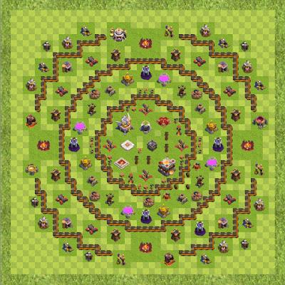 War Base Town Hall Level 11 By Dafishman (Titan TH 11 Layout)