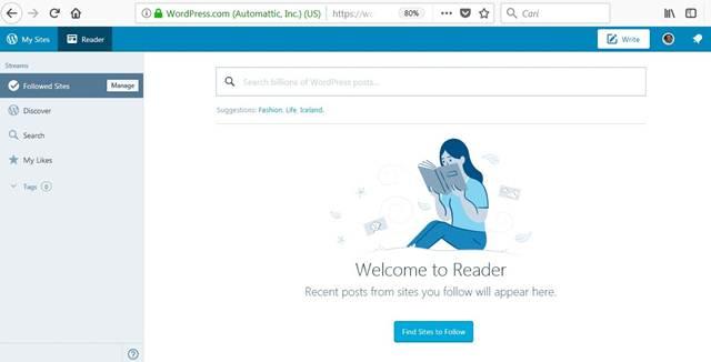 Terkadang Ingin Juga Menulis di Wordpress.Com