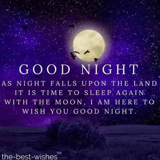 sweet good night sms