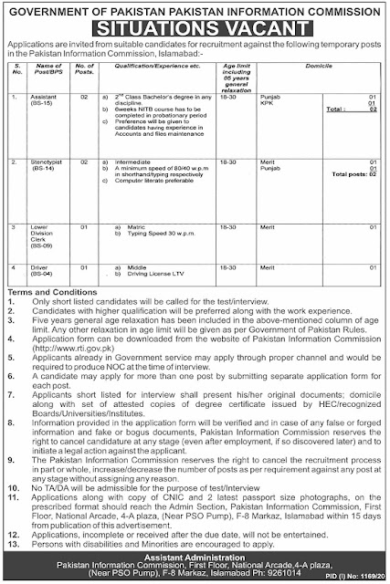 pakistan-information-commission-pic-islamabad-jobs-2020