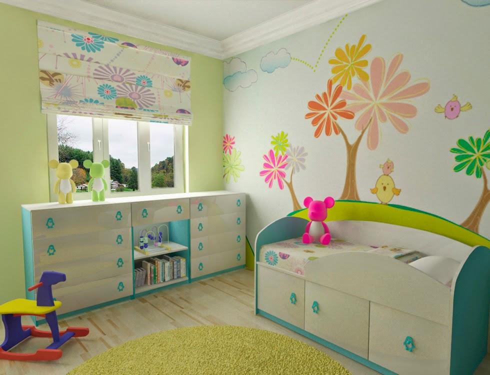 Dormitorios con mucho color para niñas - Dormitorios ...