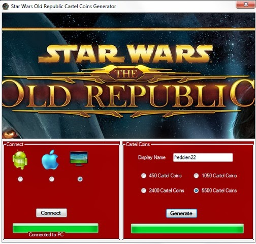 Star Wars Old Republic Cartel Coins Generator ~ New Games Hacks New