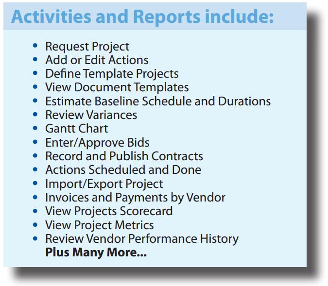 rsc archibus applications project management