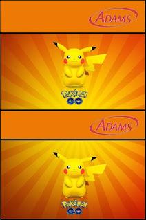 Etiqueta Chicle Adams de Pikachu para imprimir gratis.