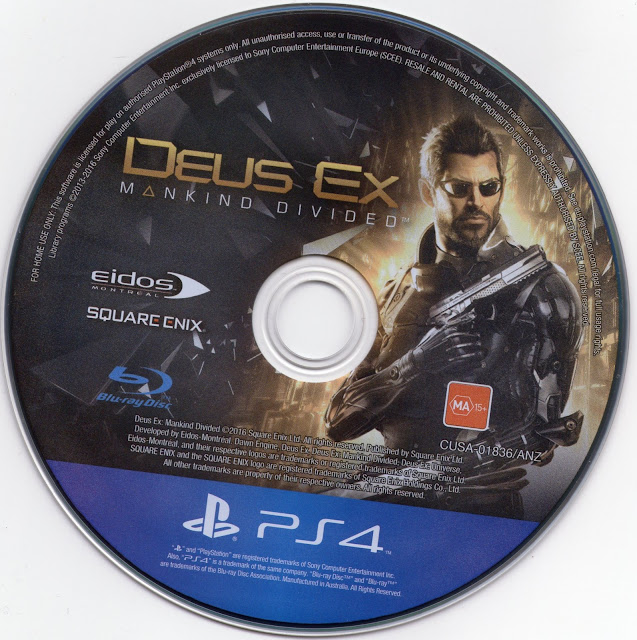 Label Deus Ex Mankind Divided PS4