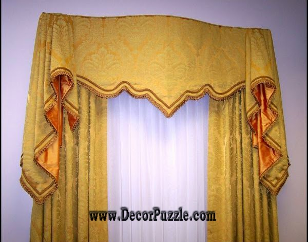 luxury classic curtains and drapes 2018, embossed yellow curtains designs 2018
