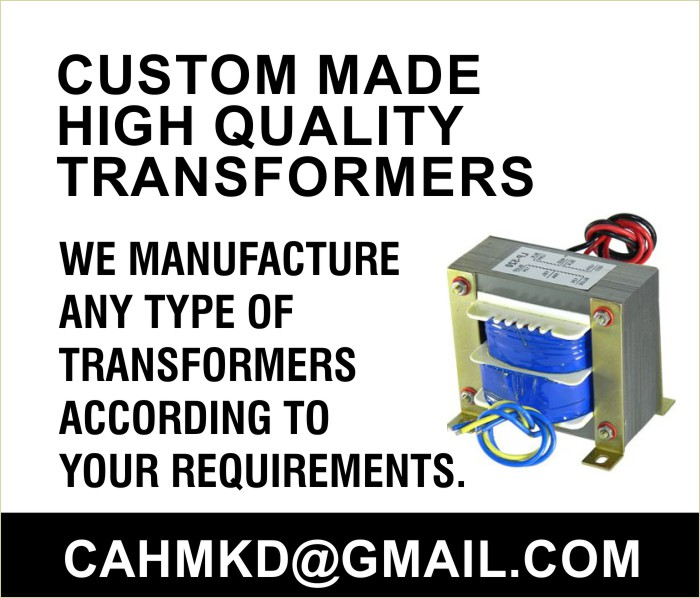 We manufacture any type of transformers according to your requirements.