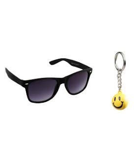 Night Vision Unisex Wayfarer Sunglasses Key Chain Combo