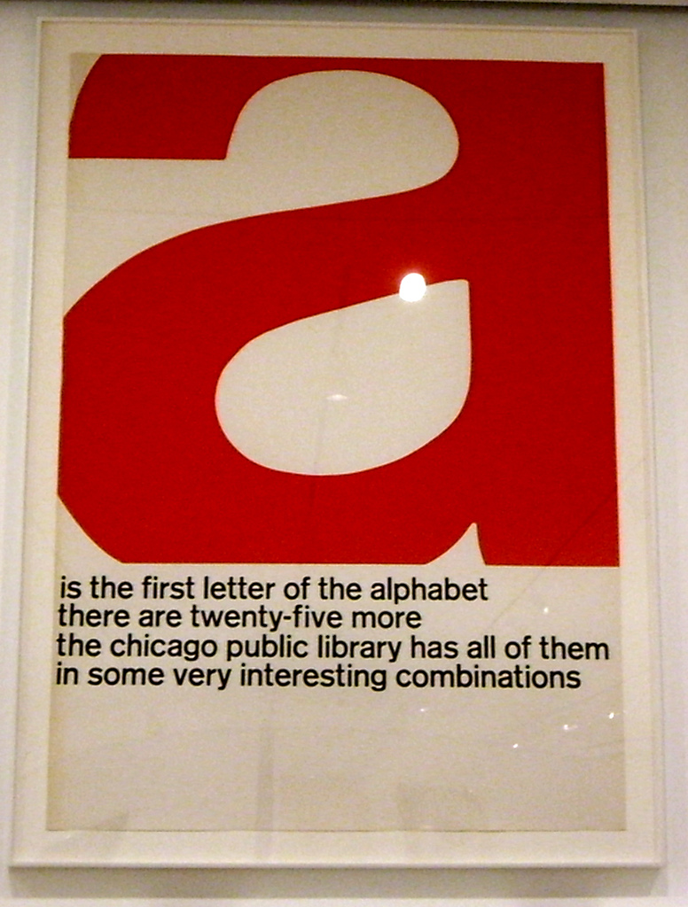 Poster Chicago public LIbrary. First letter of the library. Library Best Use. marchmatron.com
