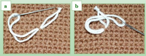 How to sew buttons onto crochet