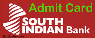 South Indian Bank PO Clerk Exam Admit Card