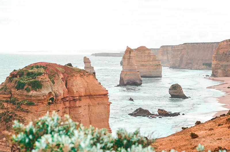 unique view of twelve apostles great ocean road victoria australia