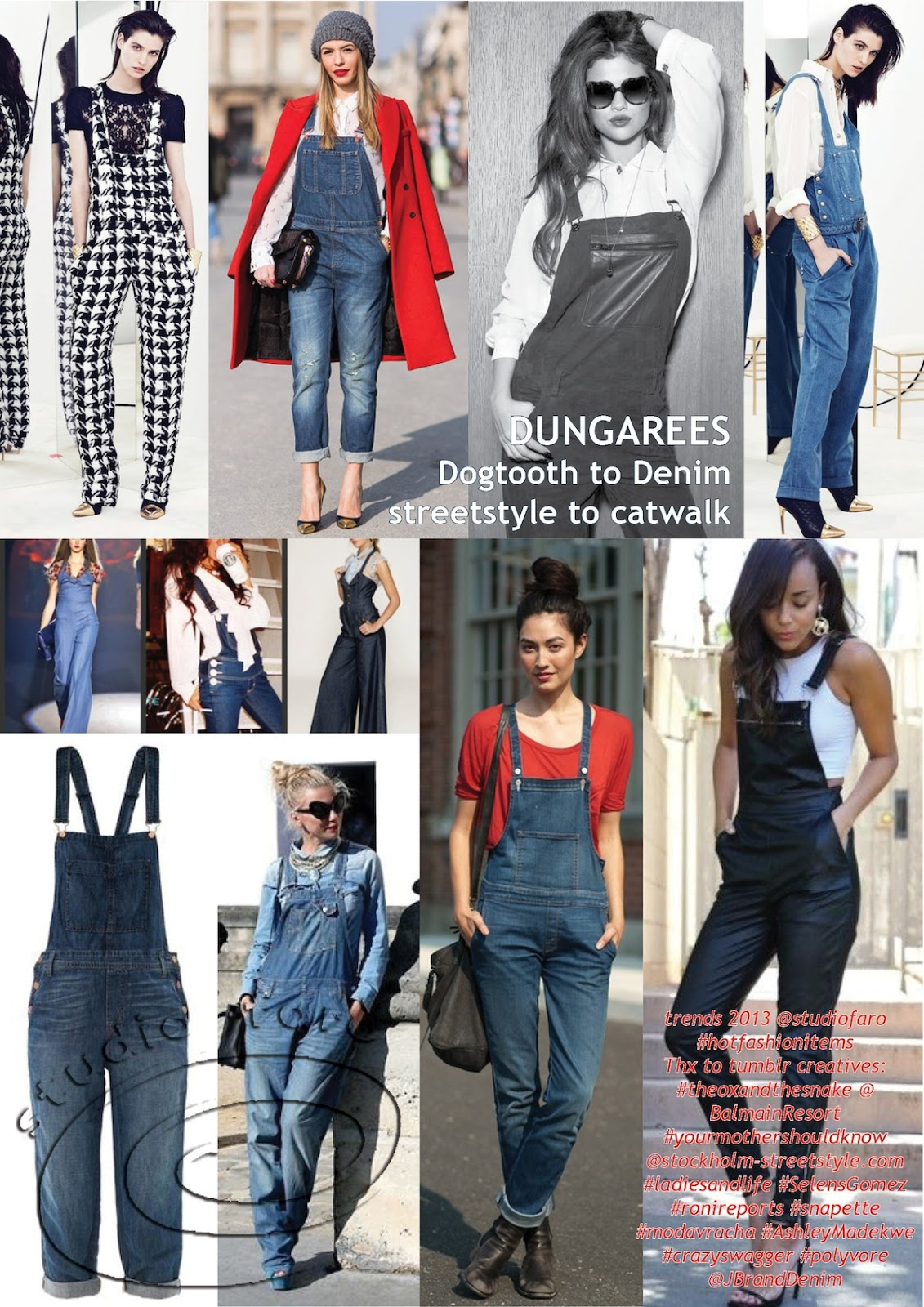 Well Suited Dungarees Dogtooth To Denim Streetstyle Catwalk With Hood 10 July 2013