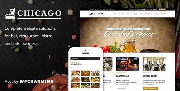 Chicago Restaurant and Cafe WordPress Themes 2015